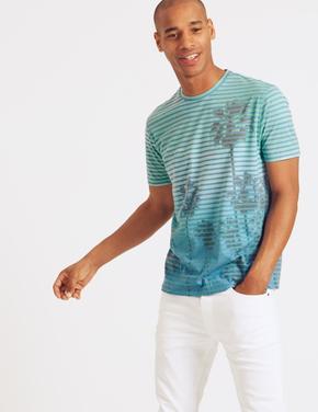 Slim Fit Pamuklu Sıfır Yaka T-Shirt