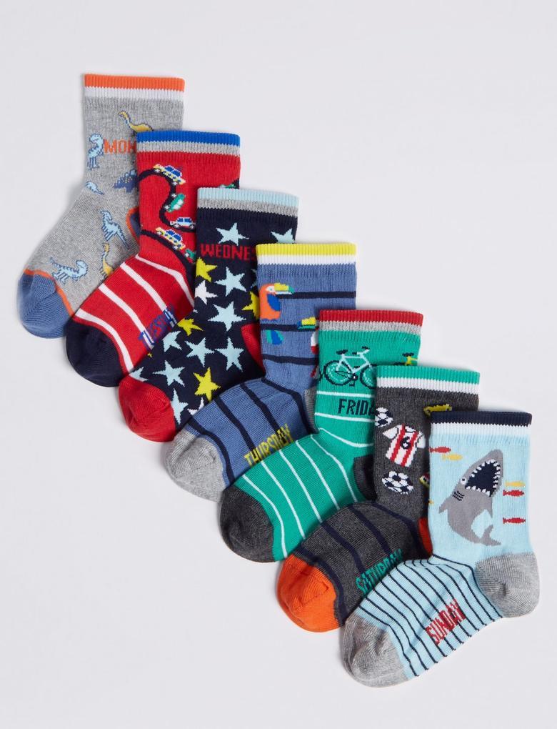 7'li Pamuklu Çorap