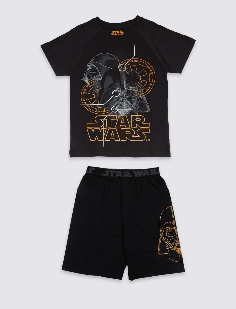 Siyah Star Wars™ Saf Pamuklu Pijama Takımı