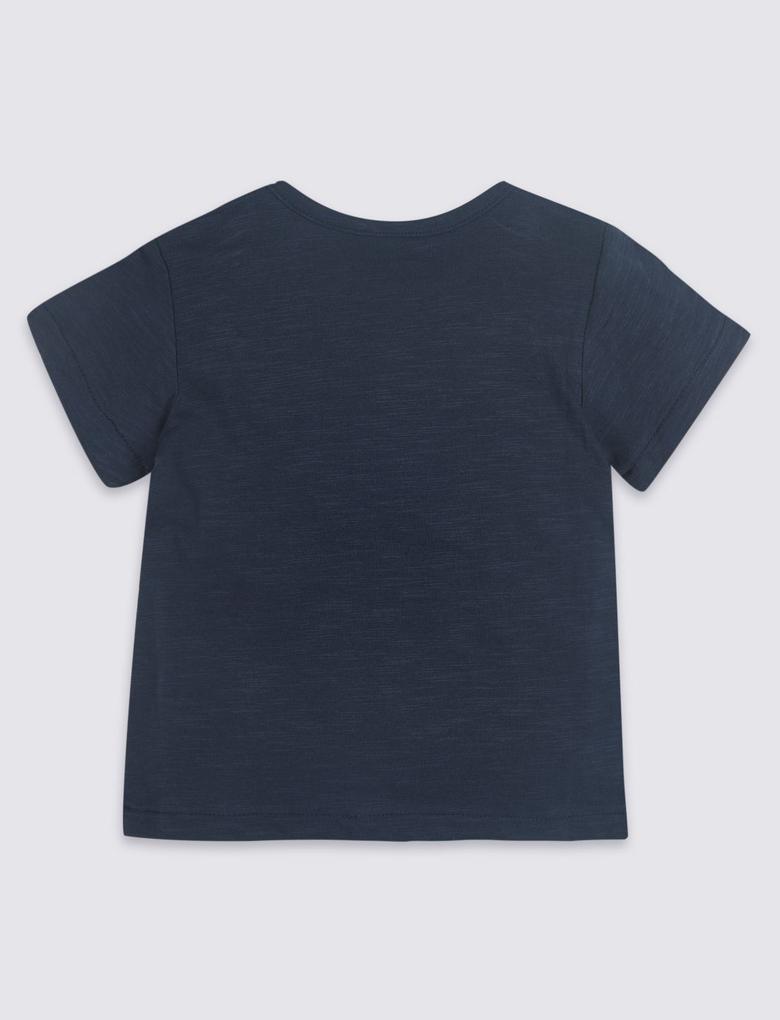 3'lü Saf Pamuklu T-Shirt