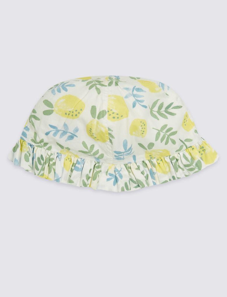 2 Parça Desenli Elbise ve Şapka Takımı