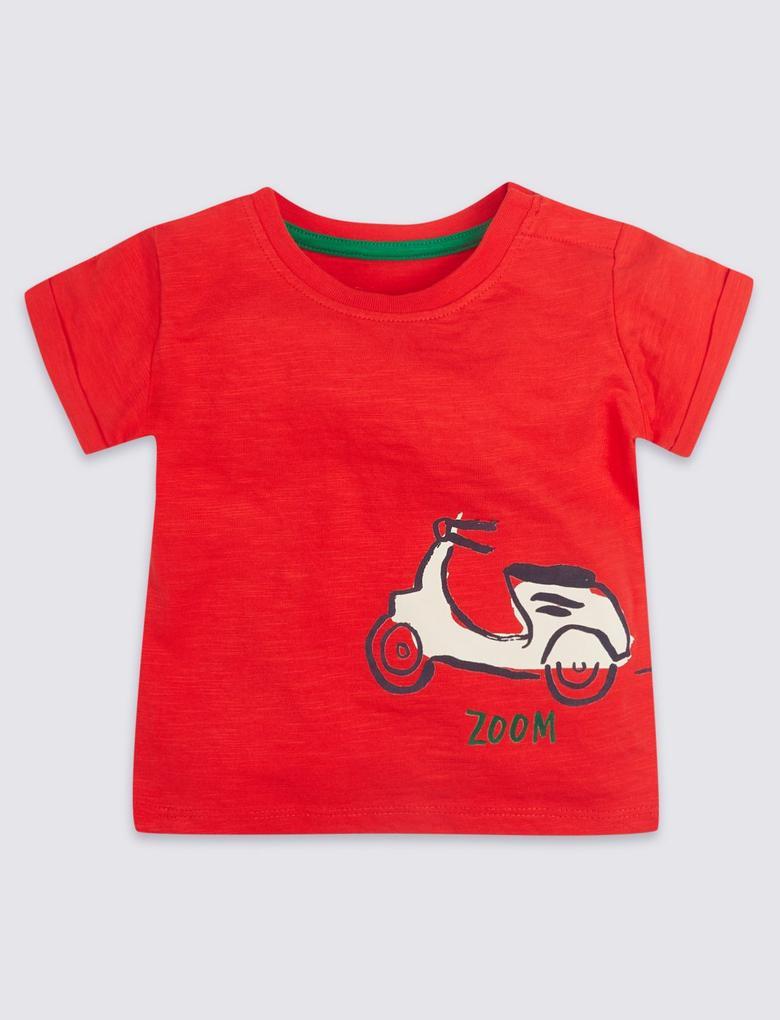 Bebek Kırmızı 2 Parça Jarse Üst ve Şort Takımı