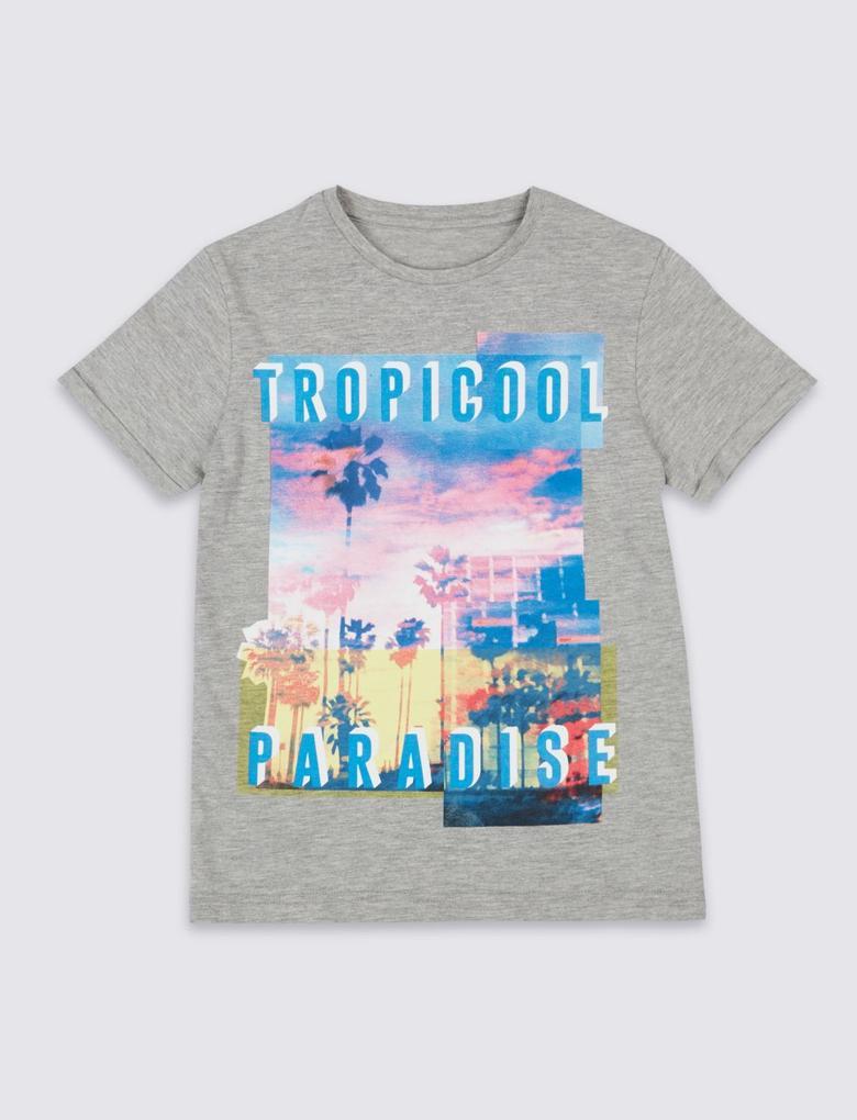 Pamuklu Kısa Kollu T-Shirt