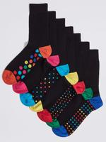 7'li Freshfeet™ Desenli Çorap