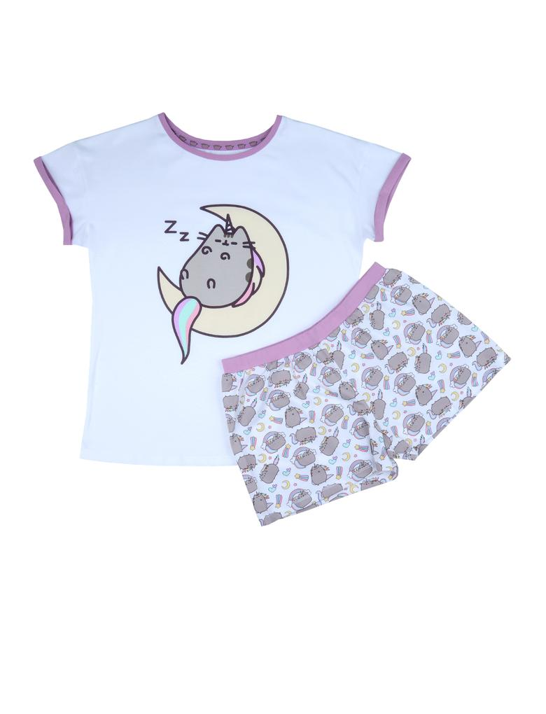 Beyaz Pusheen® The Cat Pijama Şort