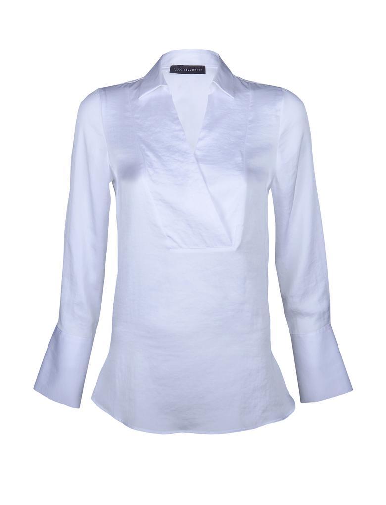Uzun Kollu Düz Renk Bluz