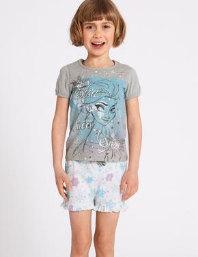 Disney Frozen Saf Pamuklu Pijama Takımı