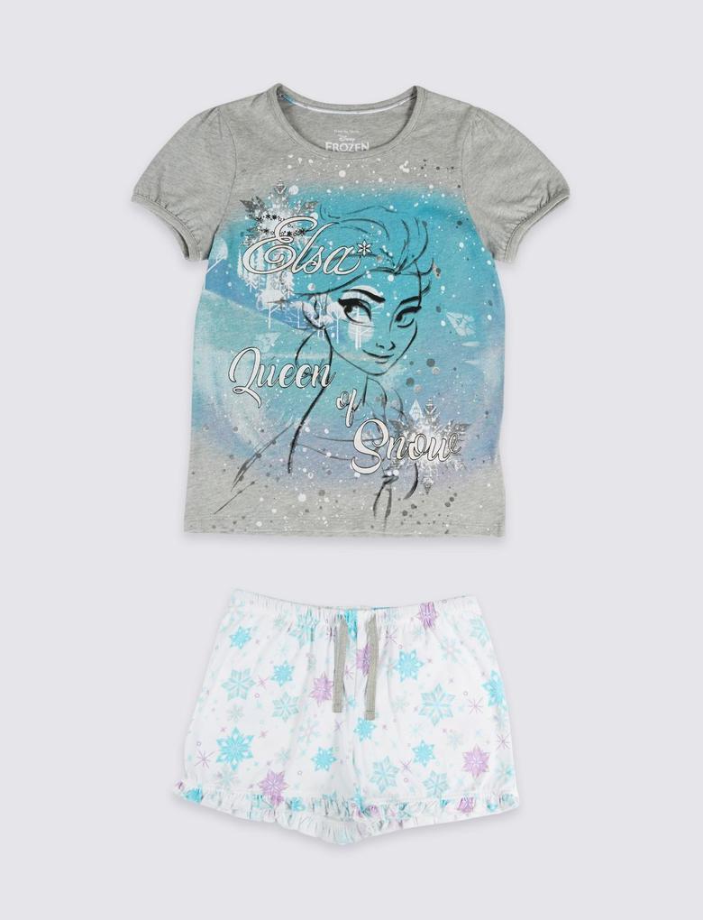 Gri Disney Frozen™ Saf Pamuklu Pijama Takımı