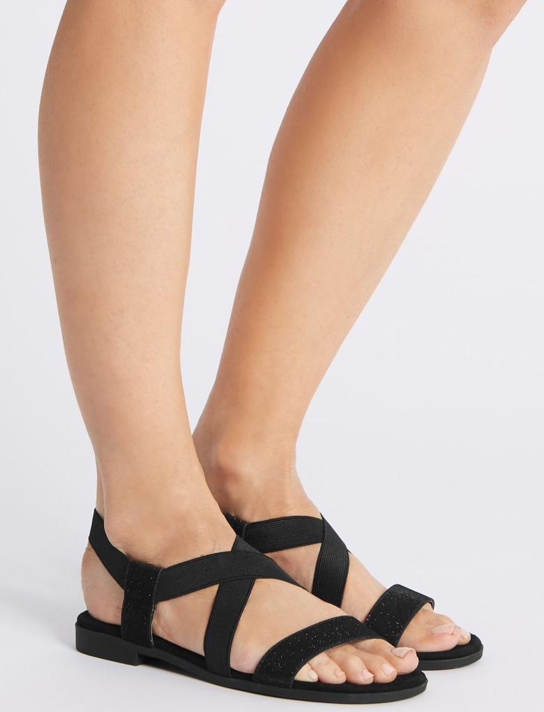 Lastikli Açık Ayakkabı (Lekelere Karşı Dayanıklı)
