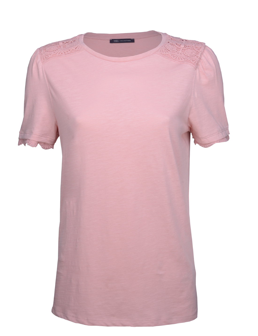 Dantel Detaylı Kısa Kollu T-Shirt