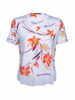 Kısa Kollu Çiçekli T-Shirt