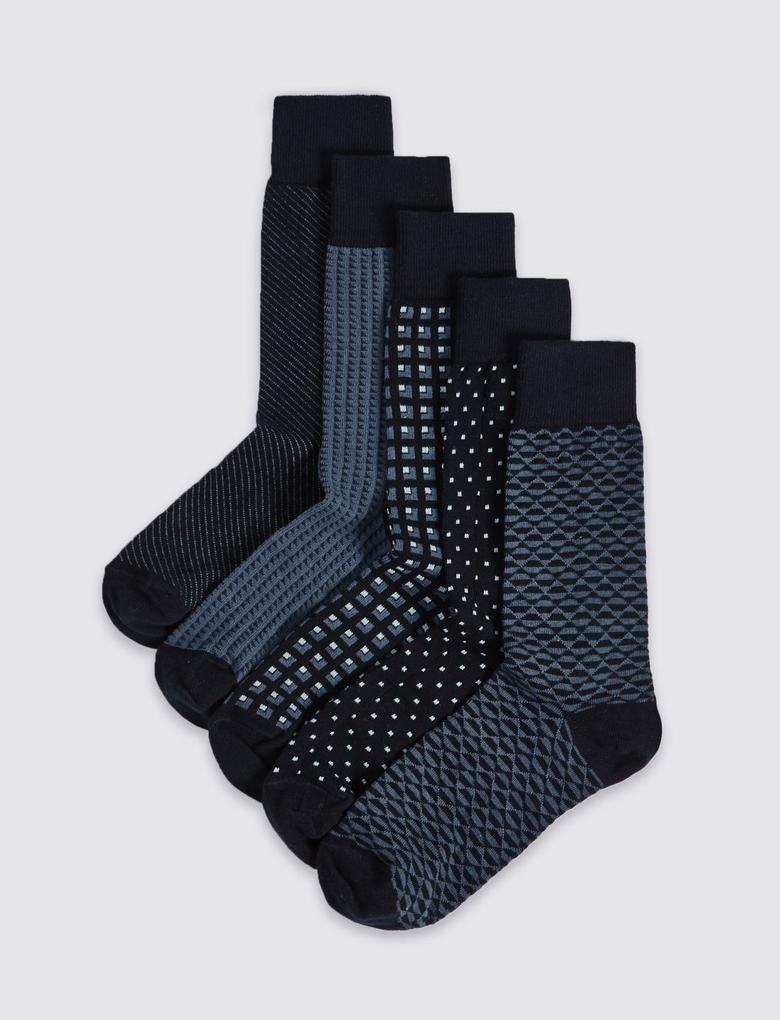 5'li Cool & Freshfeet™ Çorap