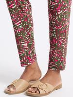 Desenli Orta Belli Tapered Leg Pantolon