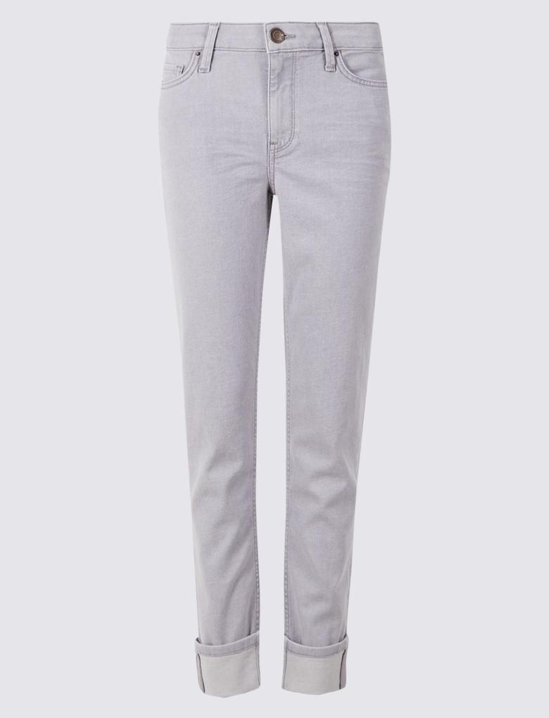 Relaxed Slim Orta Belli Jean Pantolon
