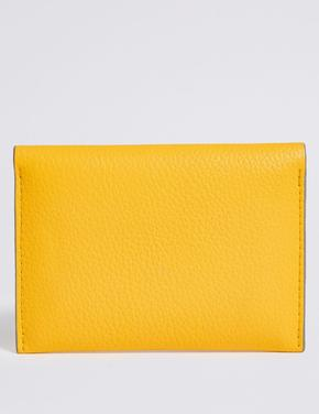 Sarı Deri Görünümlü Bozuk Para Cüzdanı