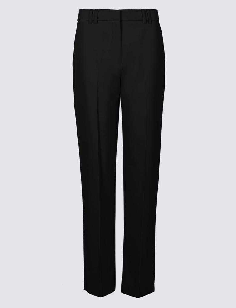 Siyah Straight Leg Pantolon