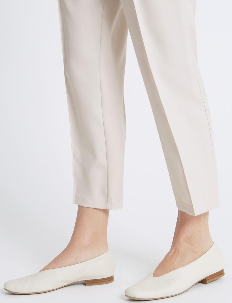 Renksiz Straight Leg Pantolon