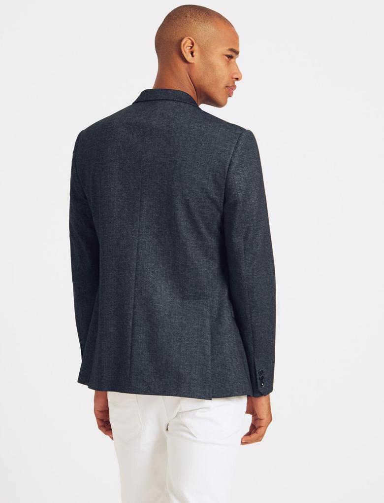 Mor Slim Fit Ceket