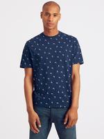 Slim Fit Saf Pamuklu Desenli T-Shirt
