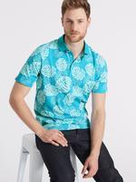 Saf Pamuklu Desenli Polo Yaka T-Shirt