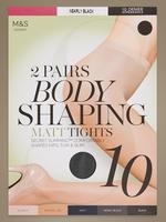 2'li Paket 10 Denye Secret Slimming™ Şekillendirici Özellikli Mat Külotlu Çorap