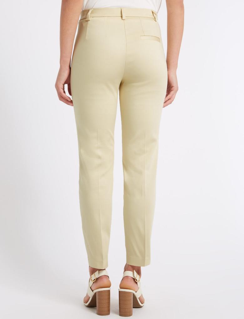 Pamuklu Slim Leg 7/8 Pantolon