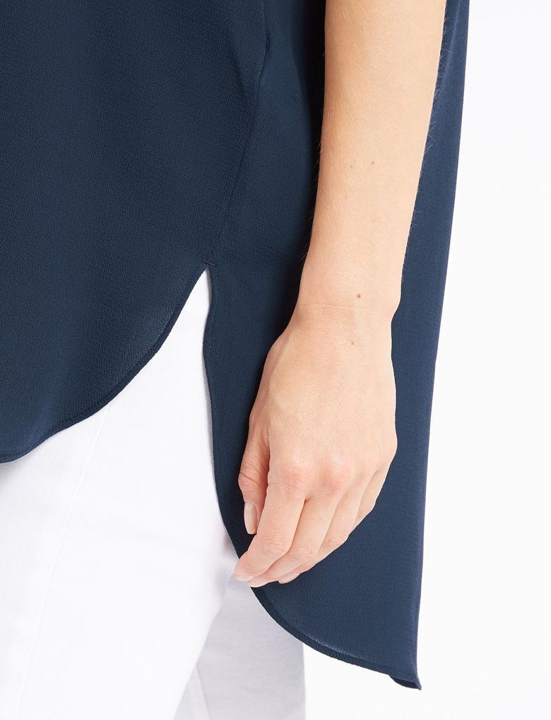 Kısa Kollu Uzun Bluz