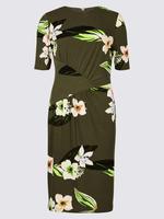 Çiçekli Jarse Elbise