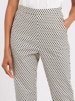 Geometrik Desenli Slim Leg Kısa Paça Pantolon