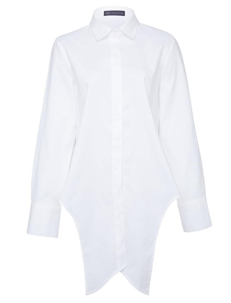 Önden Bağlamalı Poplin T-Shirt