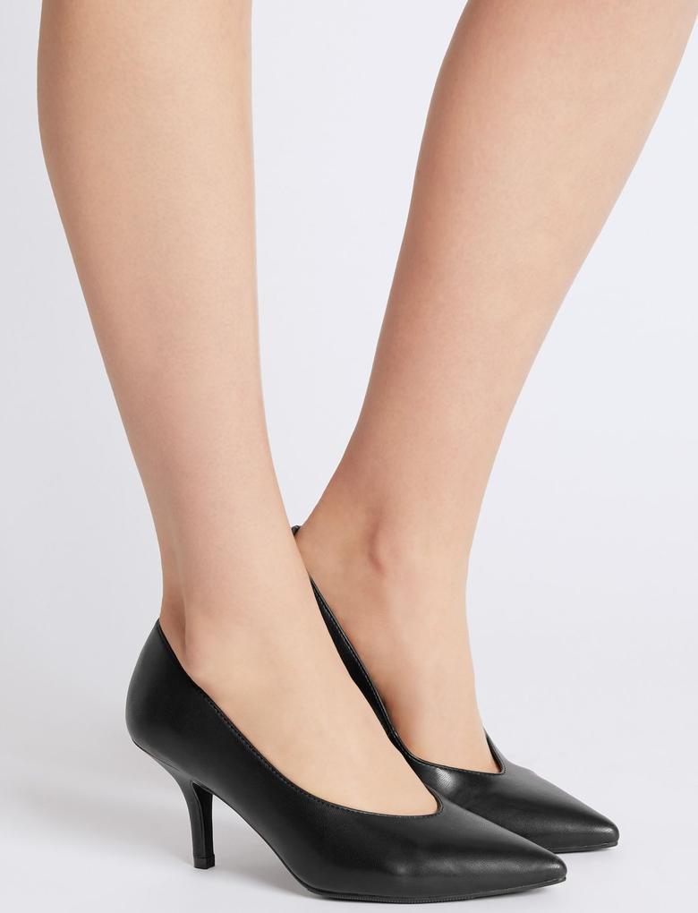 Siyah Stiletto Topuklu Ayakkabı