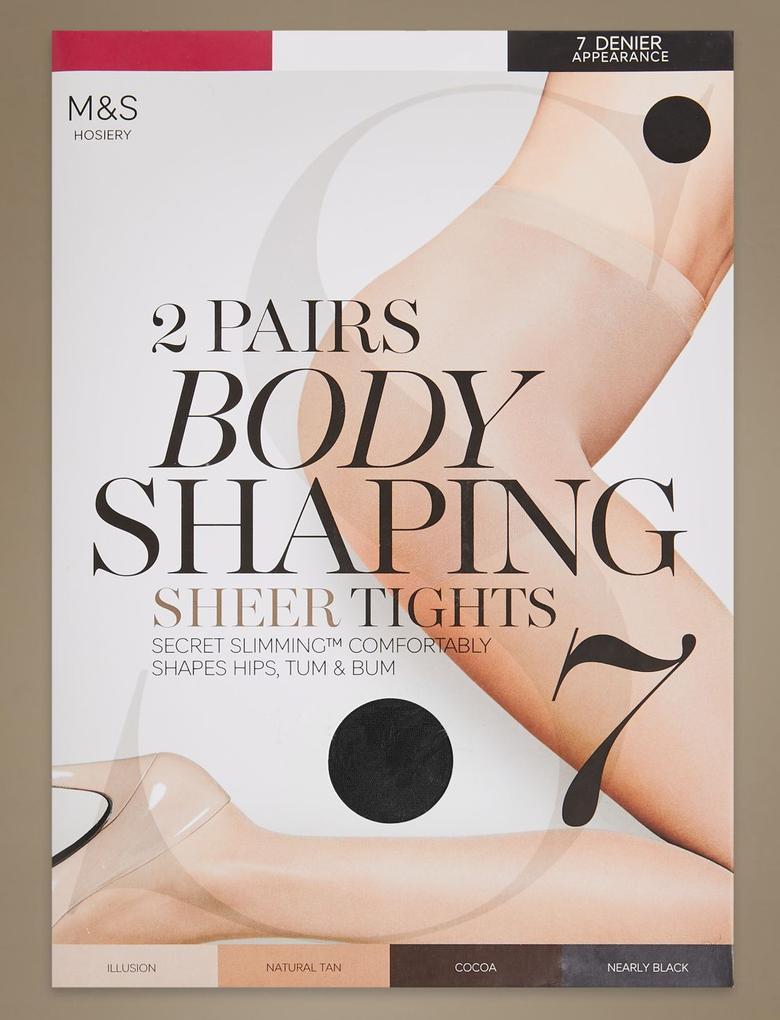 2'li Paket 7 Denye Secret Slimming™ Sheer Body Shaper Külotlu Çorap
