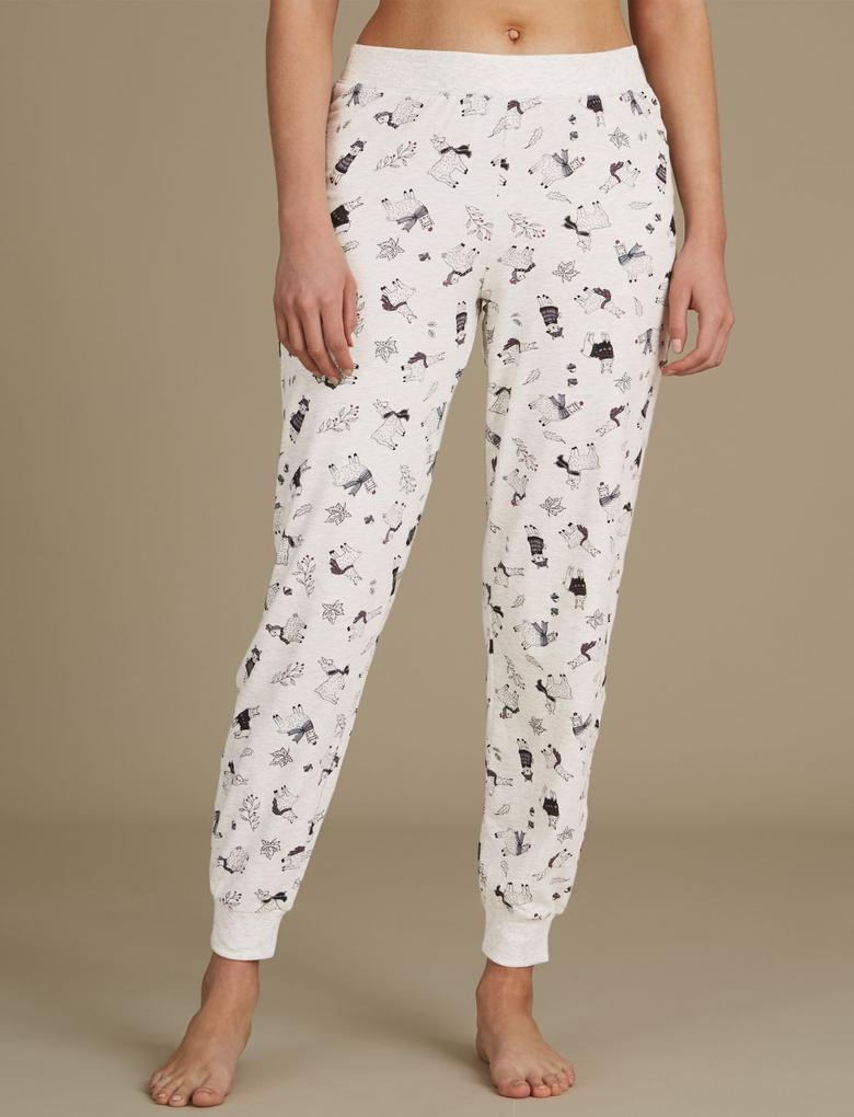 Desenli Pamuklu Pijama Takımı