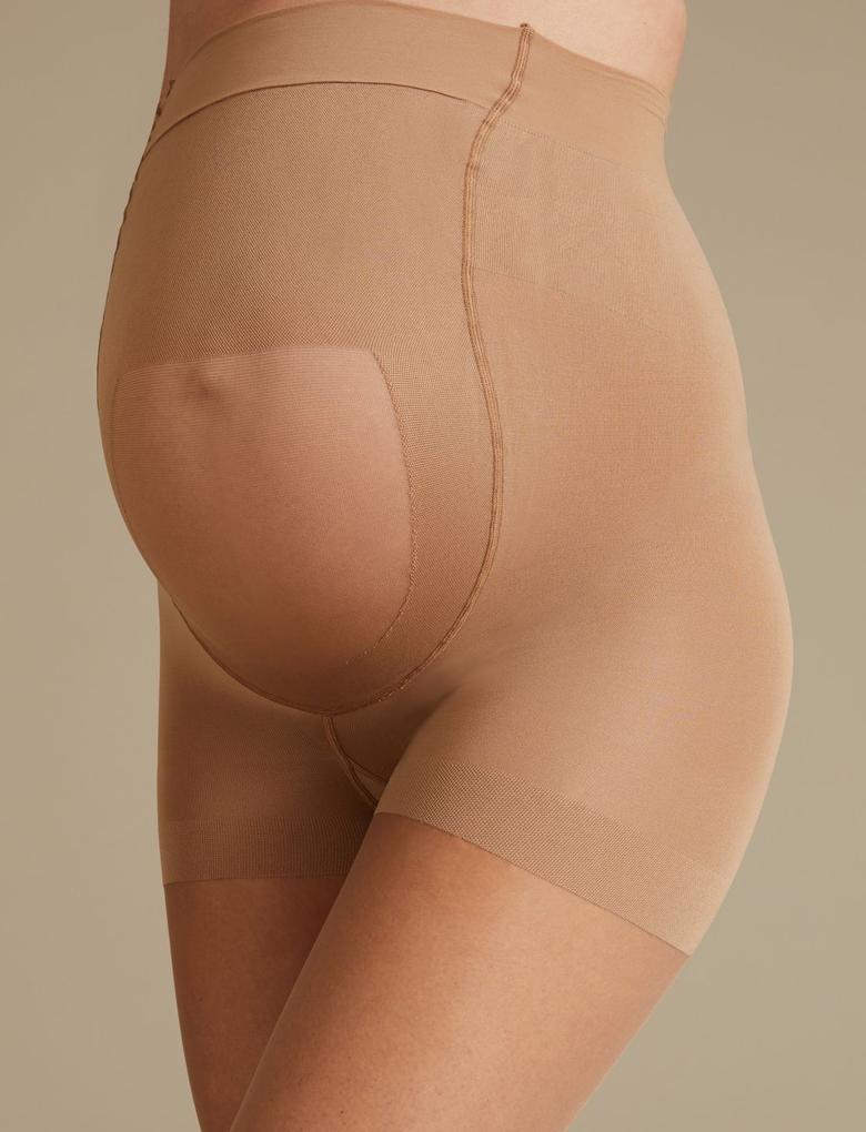 Kahverengi 7 Denye Hamile Külotlu Çorabı