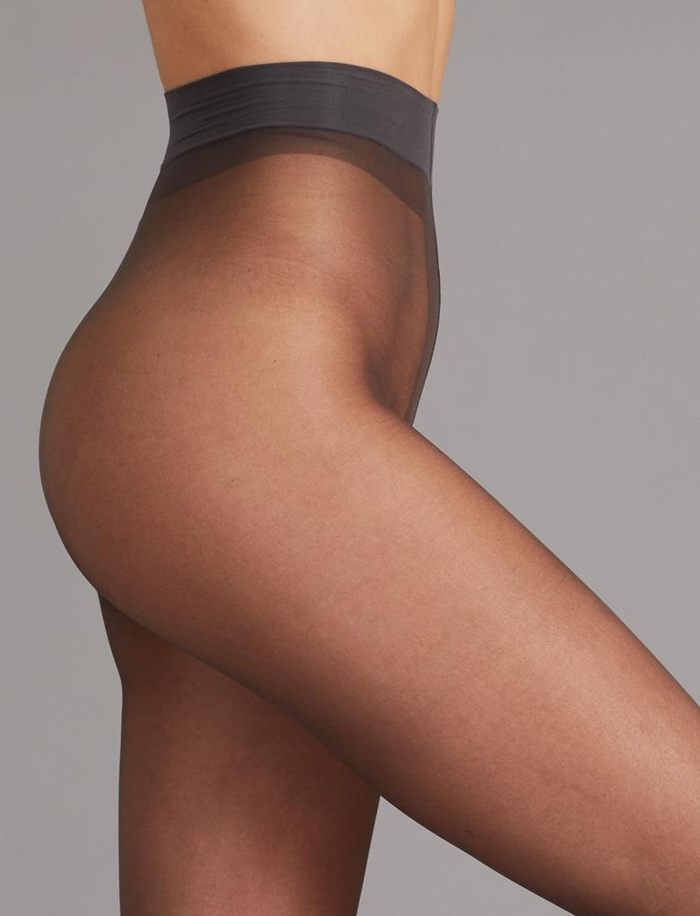 Kadın Siyah 2'li Paket 10 Denye Kaçmaya Dayanıklı Mat Külotlu Çorap