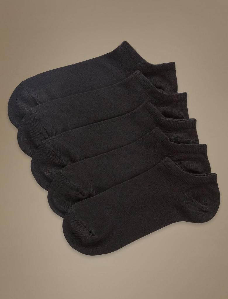 Kadın Siyah 5'li Paket Yumuşak Çorap