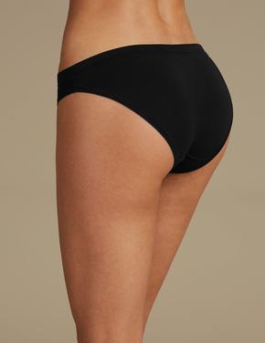 Siyah Modal Karışımlı Flexifit™ Bikini Külot