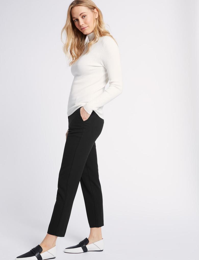 Kadın Siyah Slim Leg Pantolon