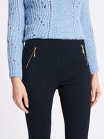 Kadın Lacivert Ponte Slim Leg Pantolon