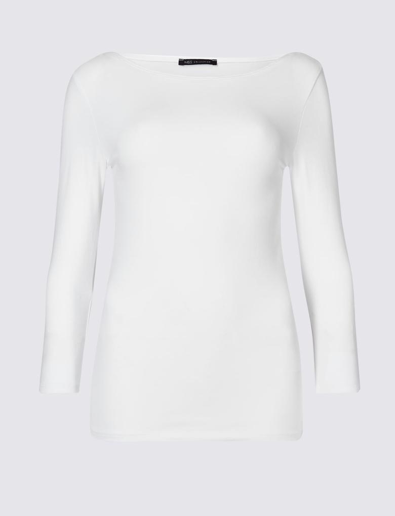 Pamuklu Streç T-Shirt