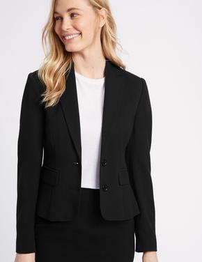 Önden Çift Düğmeli Blazer Ceket
