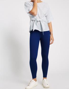 Kadın Lacivert Pamuklu Jegging Tayt Pantolon