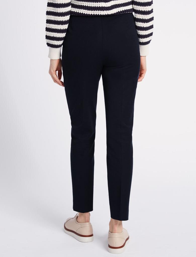 Lacivert Pamuklu Streç Pantolon