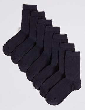 Erkek Çocuk Lacivert 7 Çift Okul Çorabı