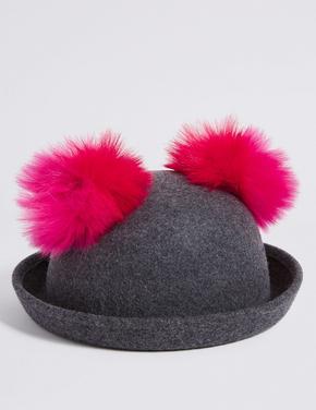 Saf Yünlü Şapka