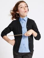 Kız Çocuk Lacivert Pamuklu Hırka