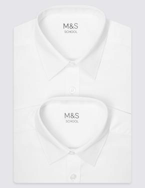 Çocuk Beyaz 2'li Regular Gömlek
