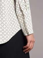 Kadın Bej Desenli Uzun Kollu Gömlek