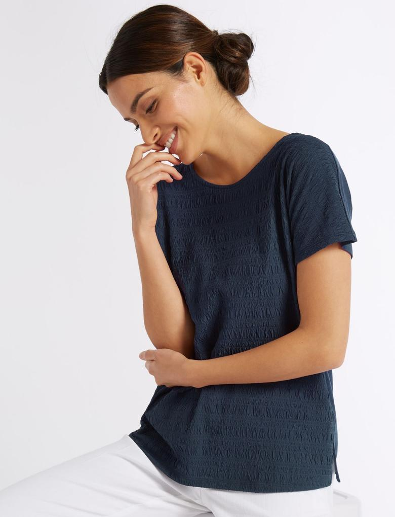 Yuvarlak Yaka Kısa Kollu T-Shirt