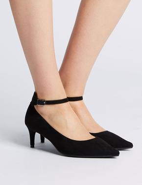 Geniş Kalıplı Sivri Burunlu Topuklu Ayakkabı